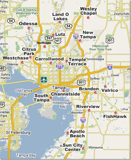 Tampa Neighborhoods on Map
