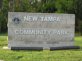 New Tampa Community Park sign