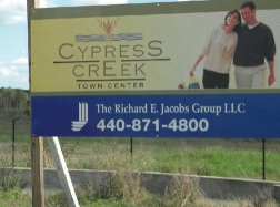 cypress creek town center sign - image