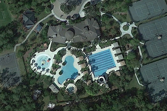 Google Earth picture of Seven Oaks