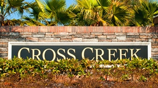 image of a cross creek sign