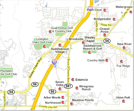 Wesley Chapel Map